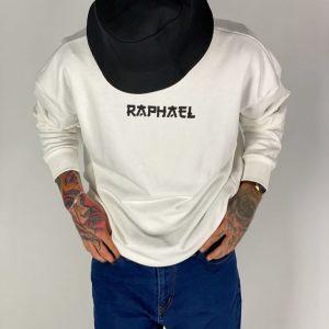RAPHAEL BEYAZ OVERSİZE SWEAT